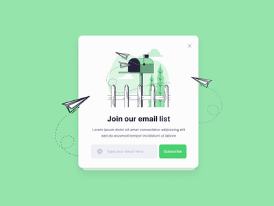Day 26 - Subscribe branding illustration modal design modal box modal web design user experience user interface design ux design ui design ux  ui ux ui subscribe 100daychallenge 100 day challenge daily 100 challenge dailyui daily ui