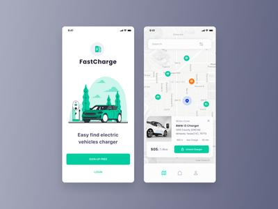 Day 29 - Map user experience user interface design user interface mobile app design mobile app vehicles cars electric charger map ux design ui design ux ui 100 day challenge daily 100 challenge dailyui daily ui