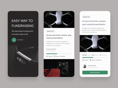 Day 32 - Crowdfunding Campaign user interface user experience user interface design crowdfunding campaign crowd funding mobile design web design responsive design 100daychallenge ui ux ui design ux design 100 day challenge daily 100 challenge dailyui daily ui