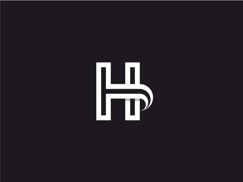 H brand personal mark logotype logo