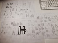 H Logo Sketches