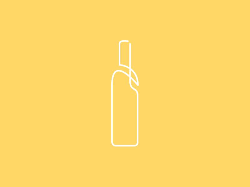 Bottle illustraion illustrator gesture lineart bottle