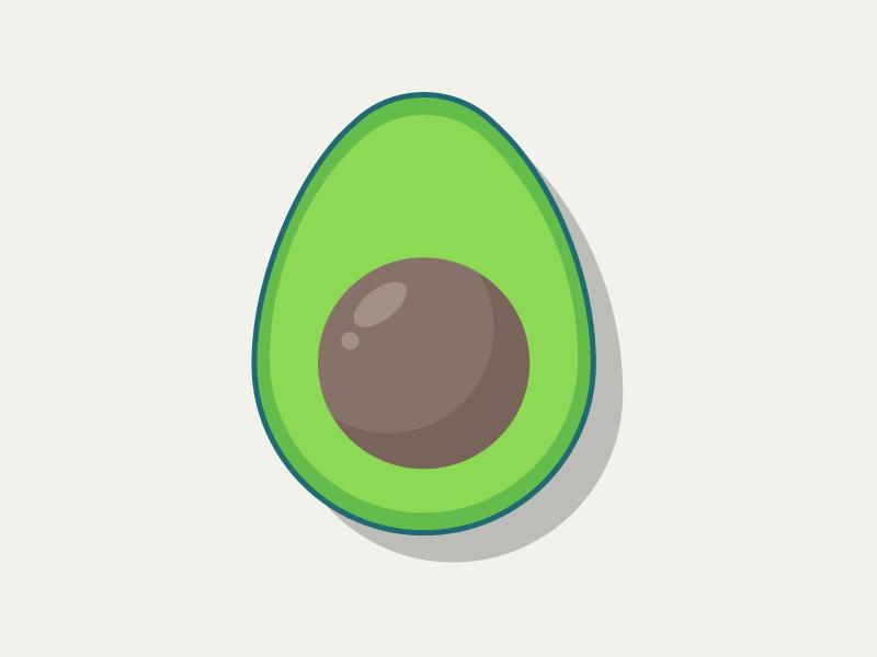 Avocado vegetable veggies illustrator flat illustration art illustration avocado