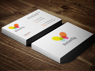 1 butterfly businesscards
