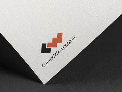 Coding Wallet Logo vector photoshop minimal logo illustrator illustration icon design branding ai