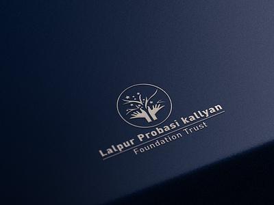 Lalpur Foundation Trust Logo vector photoshop minimal logo illustrator illustration icon design branding ai