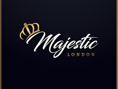 Majestic London Logo typography vector illustrator logotype logo design logo design branding ai