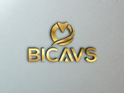 BiCAVS Logo flat ai vector logo design logo illustrator typography design branding