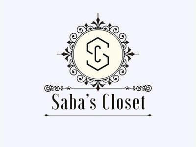 Saba's Closet Logo Design vector illustrator minimal branding icon typography logo design logo