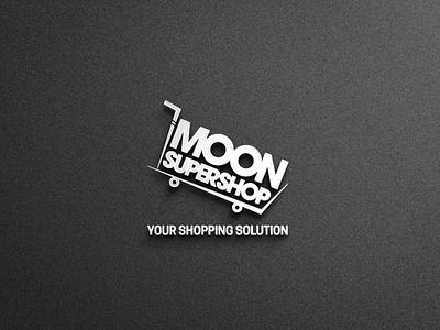 Moon Supershop Logo Design logotype flat typography vector photoshop logo design logo illustrator branding