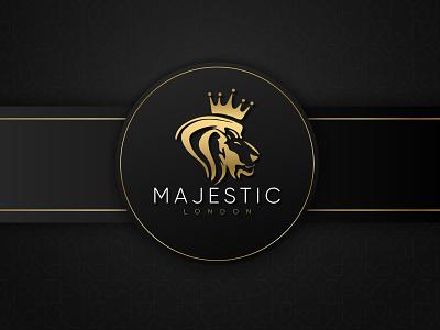 Majestic London Logo Design minimal icon typography logo design vector logo illustrator branding