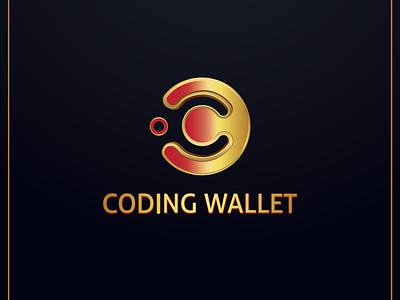Coding Wallet Logo Design app web logo vector illustration minimal logo design design illustrator branding