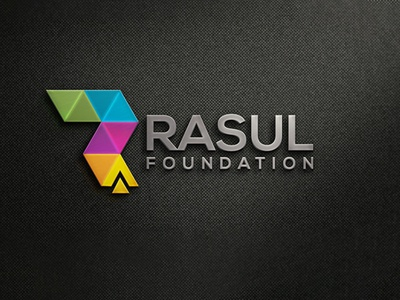 Rasul Foundation Logo Design mockup vector logotype flat typography logo design design logo illustrator branding