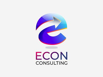 Econ Consulting Logo Design typography illustration logo design design vector logo illustrator branding