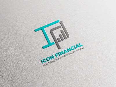 Icon Financial Logo Design app icon typography logo design consultation mortgage financial logo financial services illustrator vector logodesign logo