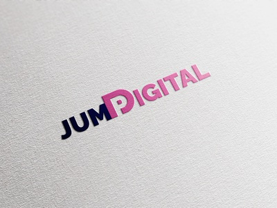 Jump Digital Logo Design clean web flat app illustrator vector logo design mockup typography branding logodesign logo clean design