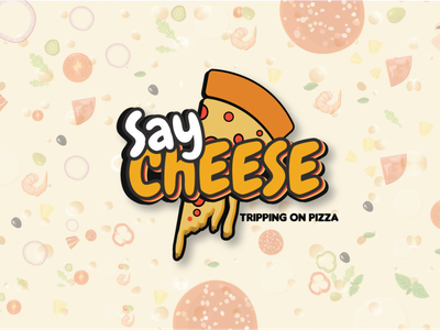 Say Cheese Logo Design web photoshop illustration minimal design typography vector branding logo design pizzashop food illustration clean design logodesign
