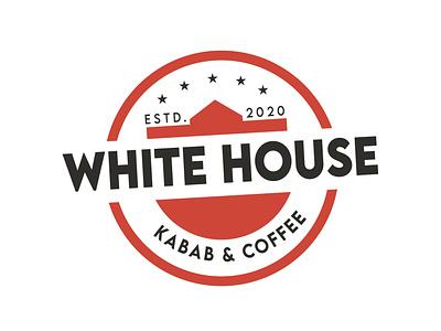 White House Logo Design illustration vector flat app ai typography logo design illustrator branding design branding logodesign logo cleandesign