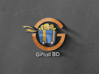 Giftall BD Logo Design 3d mockup design mockup design logo design logo illustrator branding