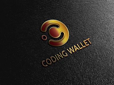 Coding WalletLogo MockUp mockup minimal brand identity brand logo coding logo colorful vector logodesign concept