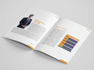 Loops IT Company Profile  Brochure Design Mockup brochure brochure mockup brochure design