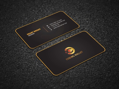 Coding Wallet Business card Design rounded business card design businesscard premium business card premium design