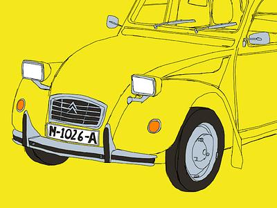 Citroën 2CV citroen 2cv drawing car procreate ipad