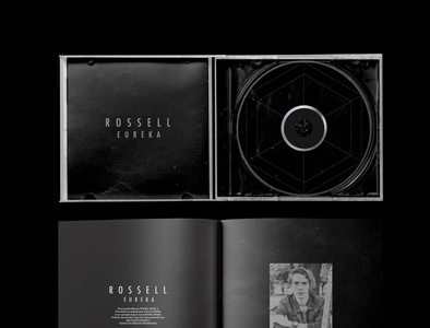 Open CD rock and roll cd graphic design branding logotype