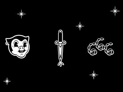 Cartoon 666 behance design logo lettering graphic design branding logotype