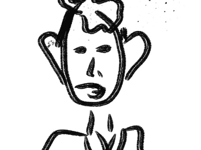 Man illustration lettering graphic design logo branding logotype