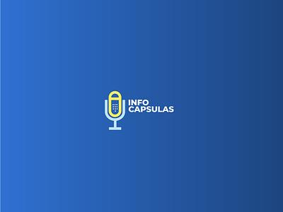 Info Cap logo graphic design logo logotype branding