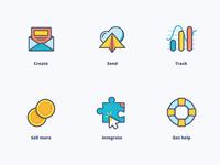 urgent icons - sendloop