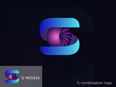 S MEDIA LOGO s mark logo idea s letter logo vector s letter s media logo s media logo media player media logo s logo logodesign logotype