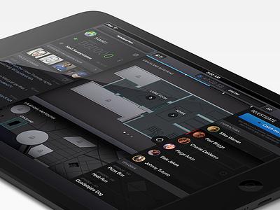 Graceland: Undercover ios ipad ui interface map usa nbc graceland