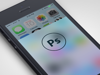 iOS7 Blur - Photoshop Action