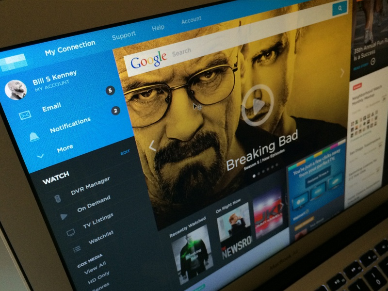 Watch Breaking Bad ui interface web portal buttons flat icons watch tv dashboard