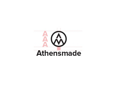 Athens Made Stacked design logo identity branding mark