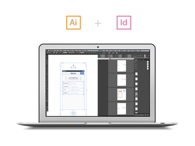 Ai + Id Wireframing Starter Kit illustrator indesign download template wireframe document