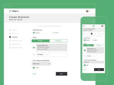 Responsive Payment Form By Mds - Dribbble