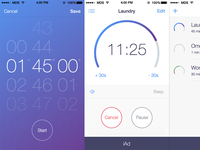 Timer+ for iOS 7