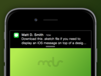Free Sketch Download - iOS Message Notification