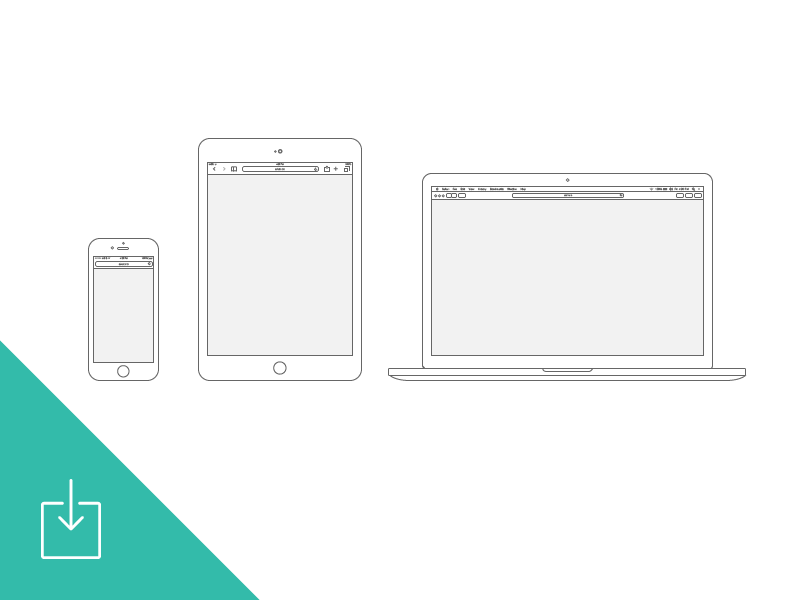 Apple Devices - Wireframe Download illustrator ui ia ux wireframes flow mobile responsive freebie