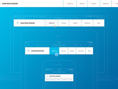 Responsive Navigation responsive mobile element collage aiux photoshop illustrator navigation tablet industry