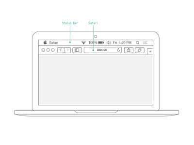 Tiny Mac illustrator tutorial wireframe macbook pro safari status bar aiux ux