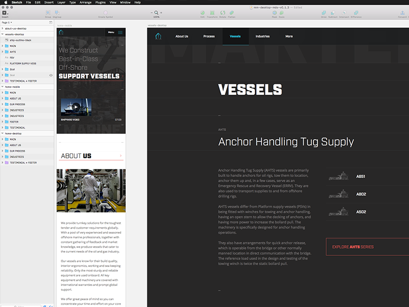 Interior Page in-Progress responsive mobile typography ux ui desktop sketch color