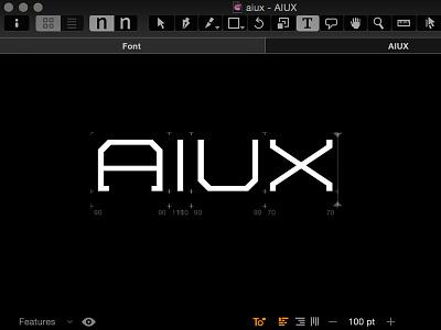 AIUX Logotype type design typography branding vector glyphs logotype logo aiux