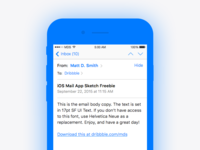 iOS Mail App - Sketch Freebie