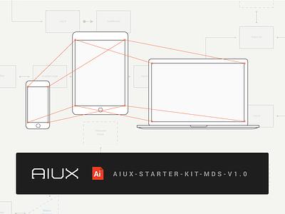 AIUX Starter Kit (and video lesson) email kit landing adobe course illustrator responsive aiux
