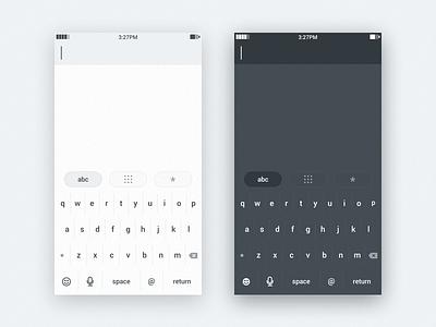 Keyboards mobile ui interface keyboard input