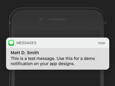 iOS 10 Message Banner (free .sketch download) notification banner messages download iphone iphone 7 ios 10 freebie